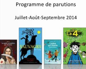 Programme de parutions Hachette