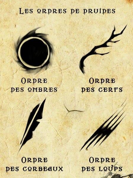 les ordres des druides