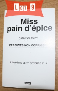 Miss Pain d'épice Lot 9